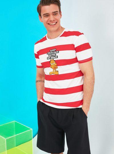 Tricou slim fit cu Garfield